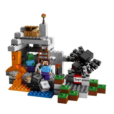 minecraft the cave cool lego set for kids pieces
