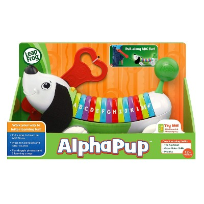 leapFrog alphaPup pull toy for kids box