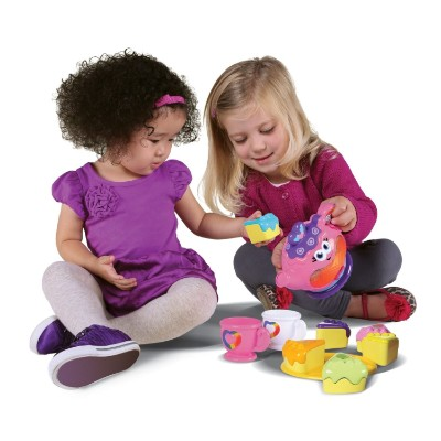 leapFrog rainbow tea set musical baby toy kids playing