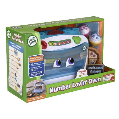 leapFrog number lovin' oven play kitchen for kids and toddlers package