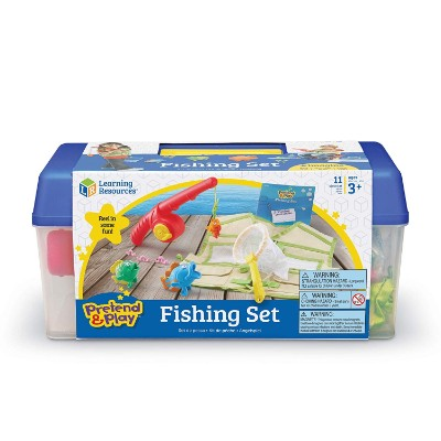 learning resources fishing set pretend play toys for kids box