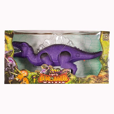 light up & walking realistic dinosaur toys for kids box