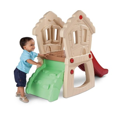 little tikes hide & seek climber indoor toddler slide back view