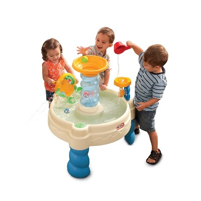 little tikes spiralin' seas waterpark water & sand table for kids and toddlers playing
