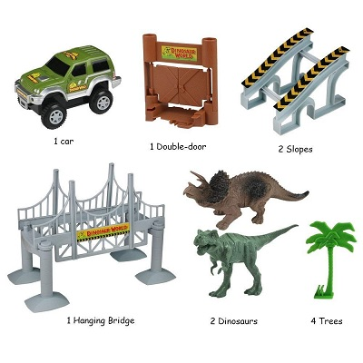 lydaz race track dinosaur toys for kids pieces