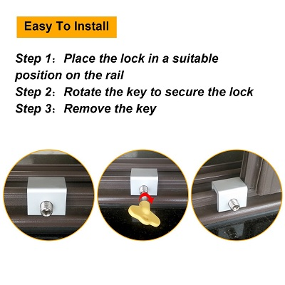 Maxdot 4 Sets Sliding Best Window Locks easy to use