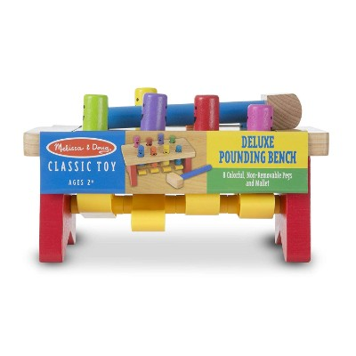 deluxe pounding bench wooden toys for kids and toddlers package