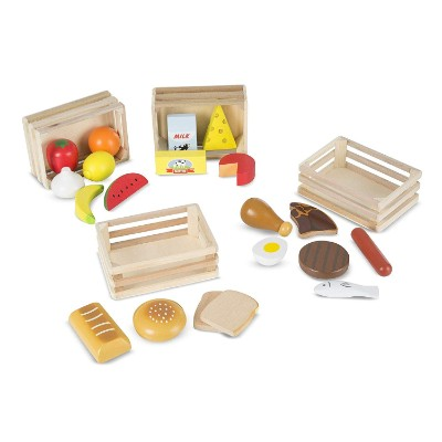 melissa & doug food groups pretend play toys for kids pieces