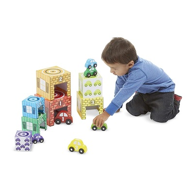 melissa & doug nesting & sorting toy cars kid playing