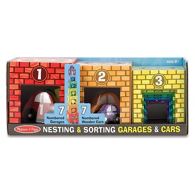 melissa & doug nesting & sorting toy cars package