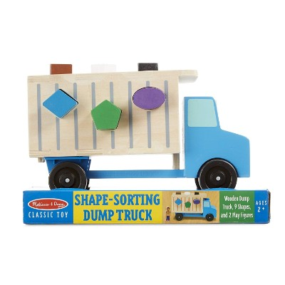 melissa & doug shape-sorting dump truck wooden toy for kids and toddlers packaged