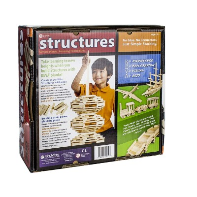 KEVA structures 200 plank set wooden toys for kids and toddlers back
