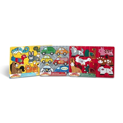 melissa & doug mix 'n match wooden puzzle designs