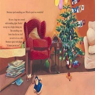 mortimers christmas manger book page