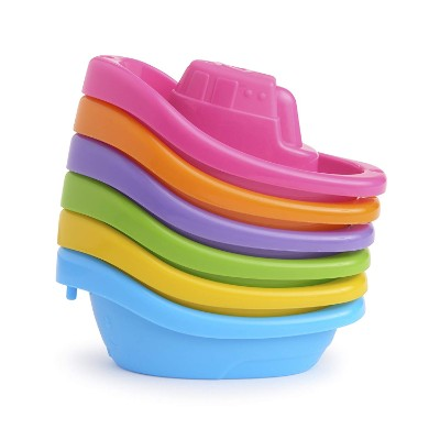 munchkin little boat train water toys for kids stackable