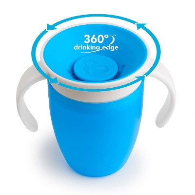 munchkin miracle 360 trainer sippy cup for toddlers 360 rotation