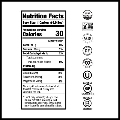 nooma organic electrolyte juice for kids nutrient facts