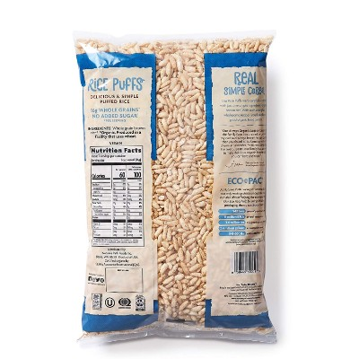 nature's path rice puffs 6 ounce organic baby cereal back