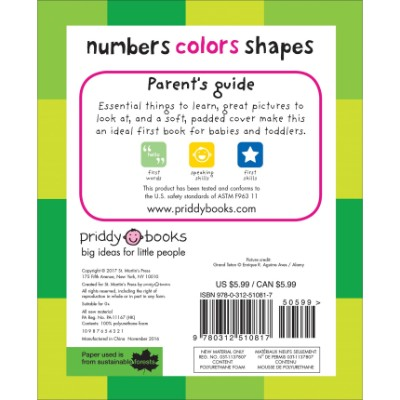 first 100 numbers, colors, shapes book for 2 year olds back