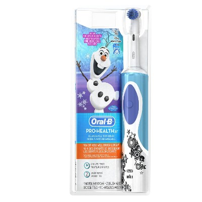 oral-b pro-health frozen electric toothbrush packaging for kids and toddlers