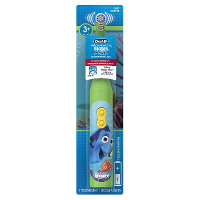 oral-b pro-health finding dory electric toothbrush for kids and toddlers package