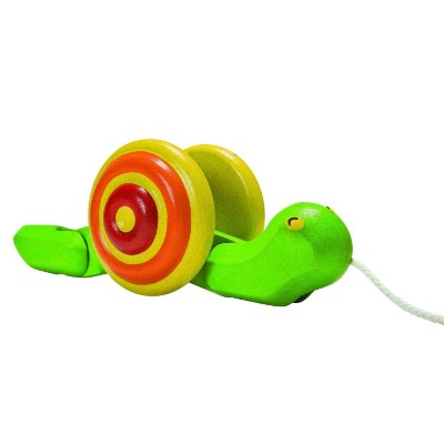 planToys snail pull toy for kids side view