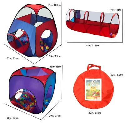 playz 4pc pop up kids play tent dimensions