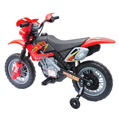 aosom 6V ride on motocross electric dirt bike for kids side view
