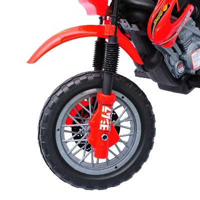 aosom 6V ride on motocross electric dirt bike for kids front tire