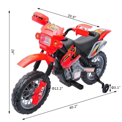 aosom 6V ride on motocross electric dirt bike for kids size