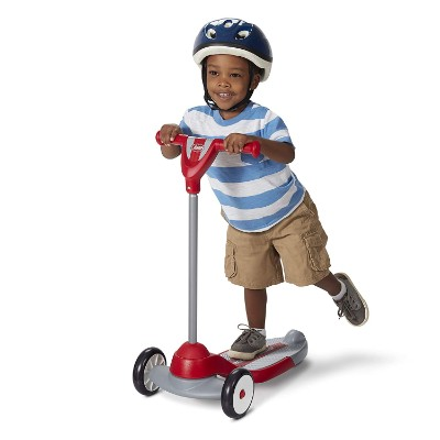 my first radio flyer kids scooter kid riding