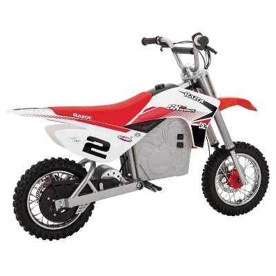 mcGrath rocket motocross electric dirt bike for kids side view