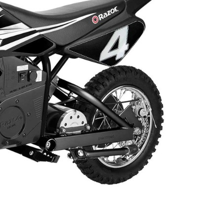 razor MX650 17 MPH steel rocket electric dirt bike for kids back