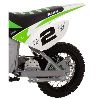 razor SX500 mcGrath rocket electric dirt bike for kids back tire