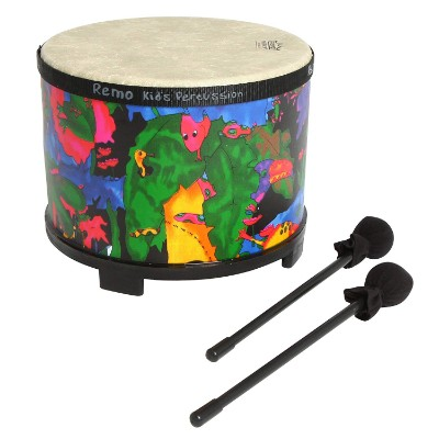 remo rainforest floor tom drum sets for kids and toddlers pattern