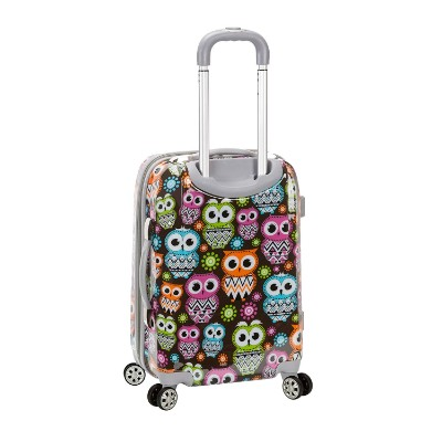 rockland 20 inch polycarbonate kids luggage set back