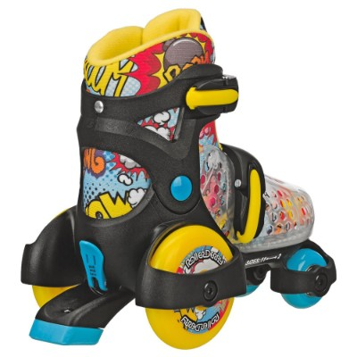 boy's fun roll adjustable roller skates for kids back view
