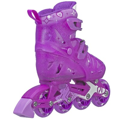girls tracer adjustable inline roller skates for kids side view
