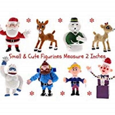 rudolph red nosed reindeer christmas toy set