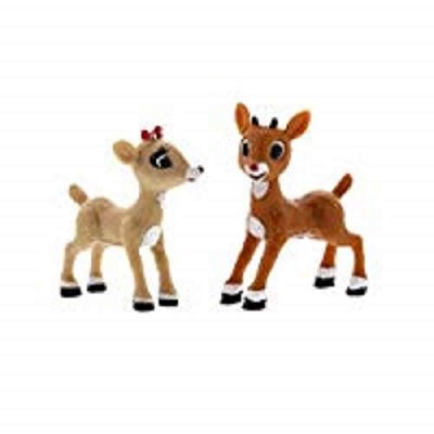 rudolph red nosed reindeer christmas toy figures
