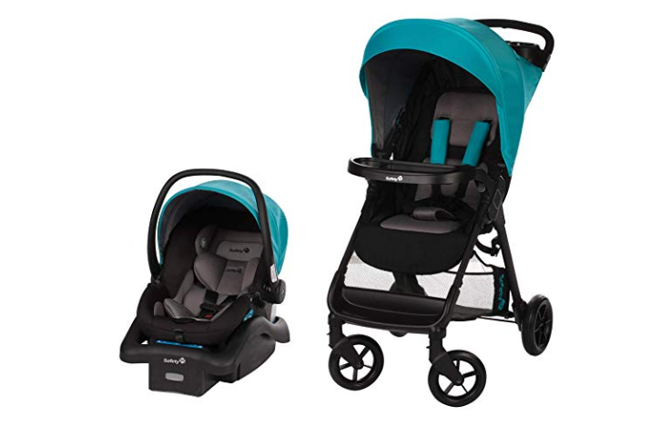 The Safety 1st Smooth Ride Travel System with onBoard 35 Infant Car Seat has agile wheels.