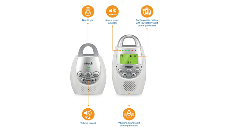 The VTech DM221 Audio Baby Monitor includes a user manual.