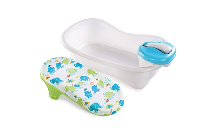 The Summer Infant Newborn to Toddler Bath Center and Shower is large and convenient for both parents and babies.