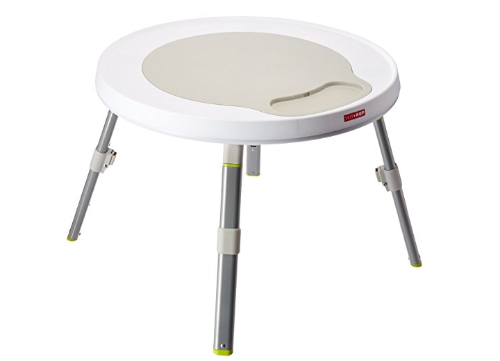 The Skip Hop Explore and More Baby Activity Center converts to a play table.