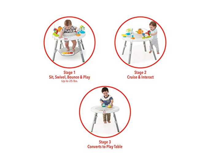 The Skip Hop Explore and More Baby Activity Center is easy to clean.