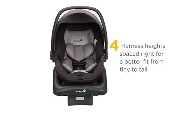 The Safety 1st Smooth Ride Travel System with onBoard 35 Infant Car Seat has 4 harness heights.