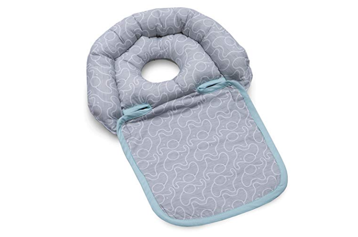 The Boppy Noggin Nest Head Support keeps the baby's head safe.