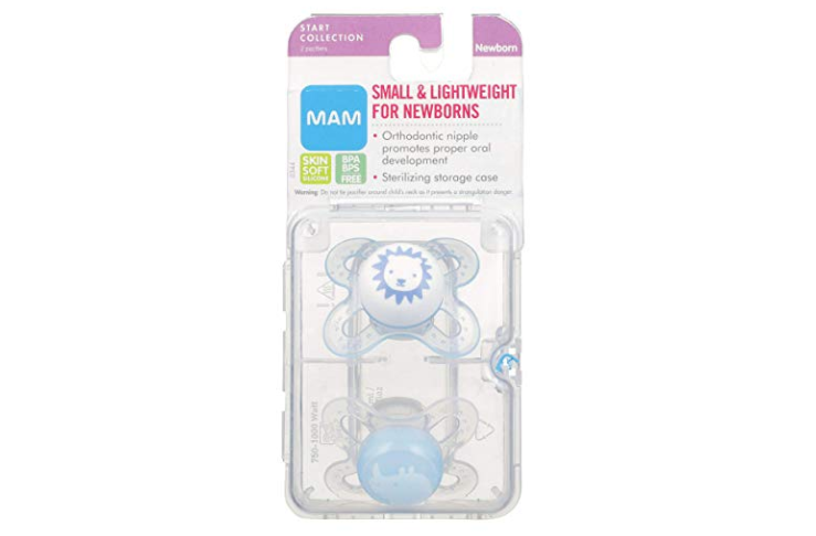 The MAM Newborn Pacifier is easy to clean.