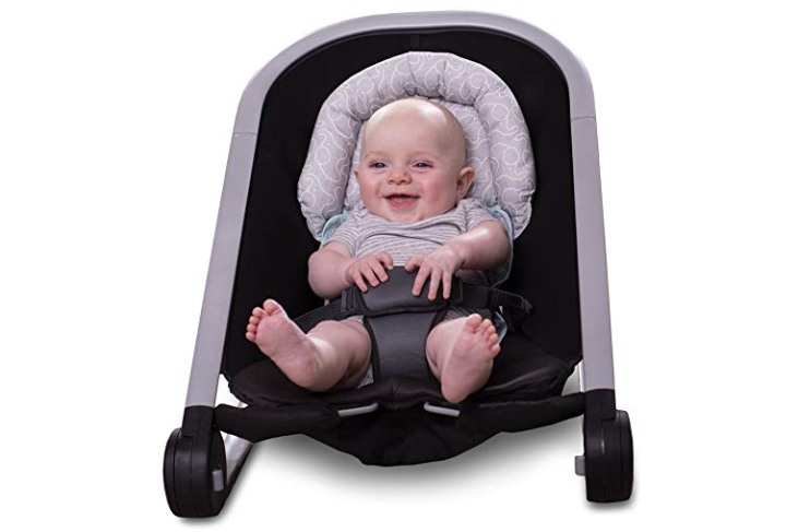 The Boppy Noggin Nest Head Support is simple to install in any stroller.