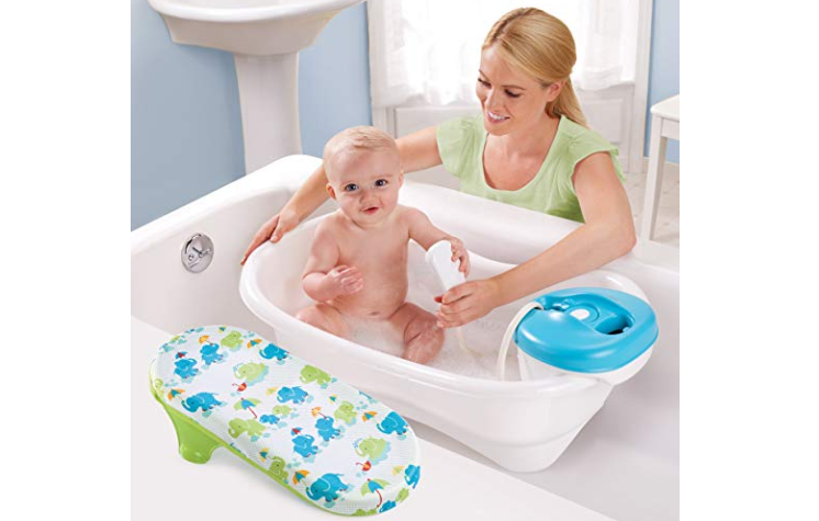 The Summer Infant Newborn to Toddler Bath Center and Shower is easy to maintain.